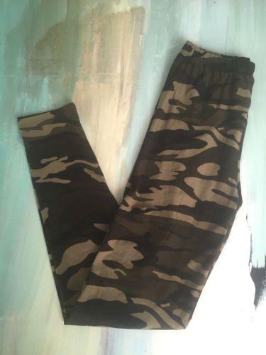 LuLaroe Camo Leggings Camouflage Military Print One SIze Original Waist