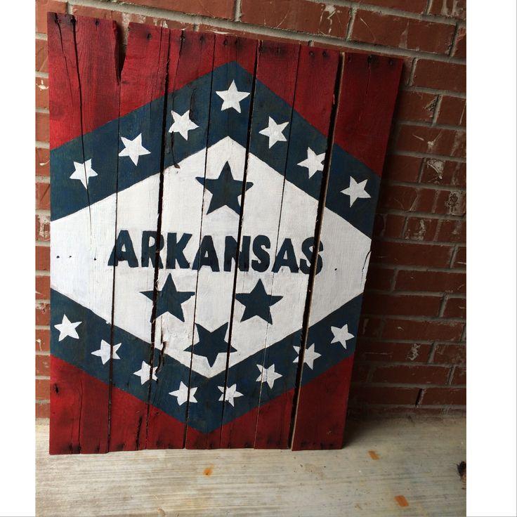 Pallet craft. Arkansas flag