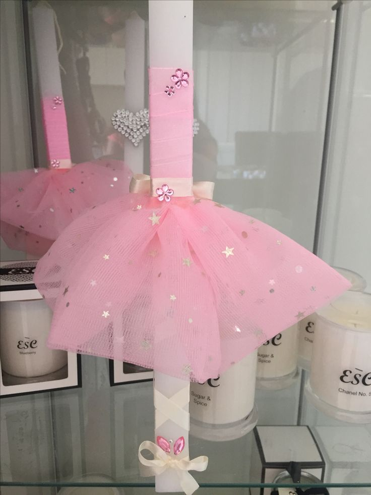 Girls Easter Candle  Ballerina