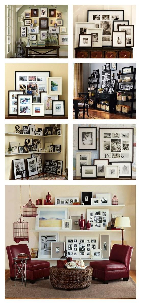 gallery walls: Photo Collage, Photos, Photo Walls, Photo Displays, Display Ideas, Wall Display, Gallery Wall