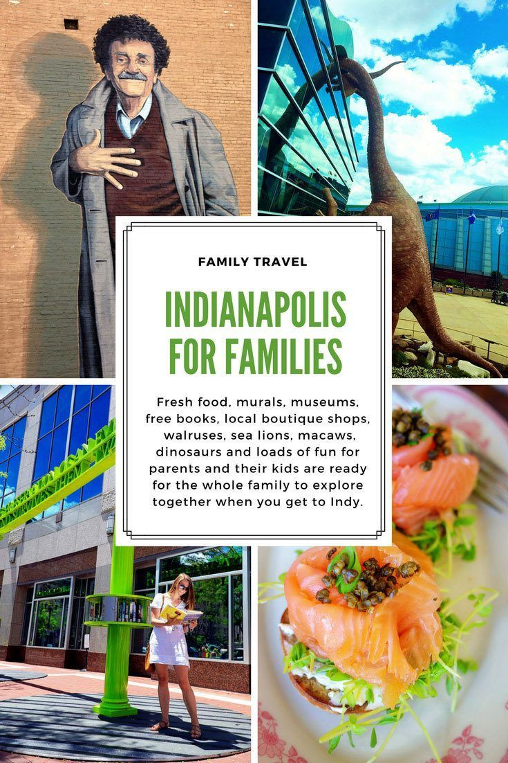 Indianapolis with kids is an easy weekend getaway when you want great food, museums, shops, murals, monuments, history and creature encounters the whole family, including parents, will enjoy.