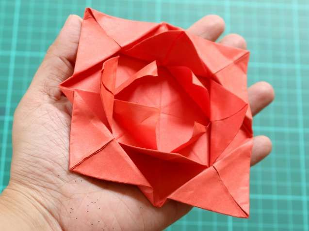 Beautiful origami fan flower best photos for world pinterest origami fan flower beautiful origami fan flower how to fold a simple origami flower mightylinksfo
