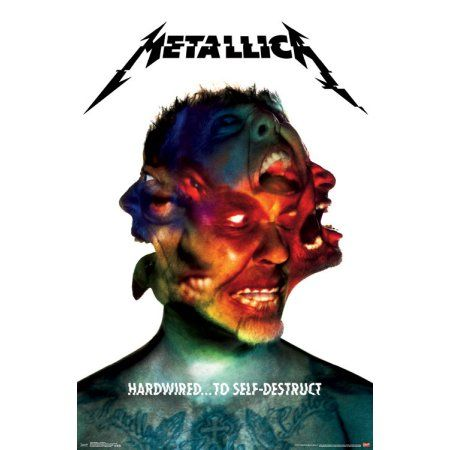 Trends International Metallica Hardwired Wall Poster 22.375 inch x 34 inch, Multicolor