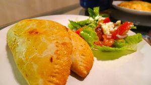 Chicken Pie served with Shopska Salad