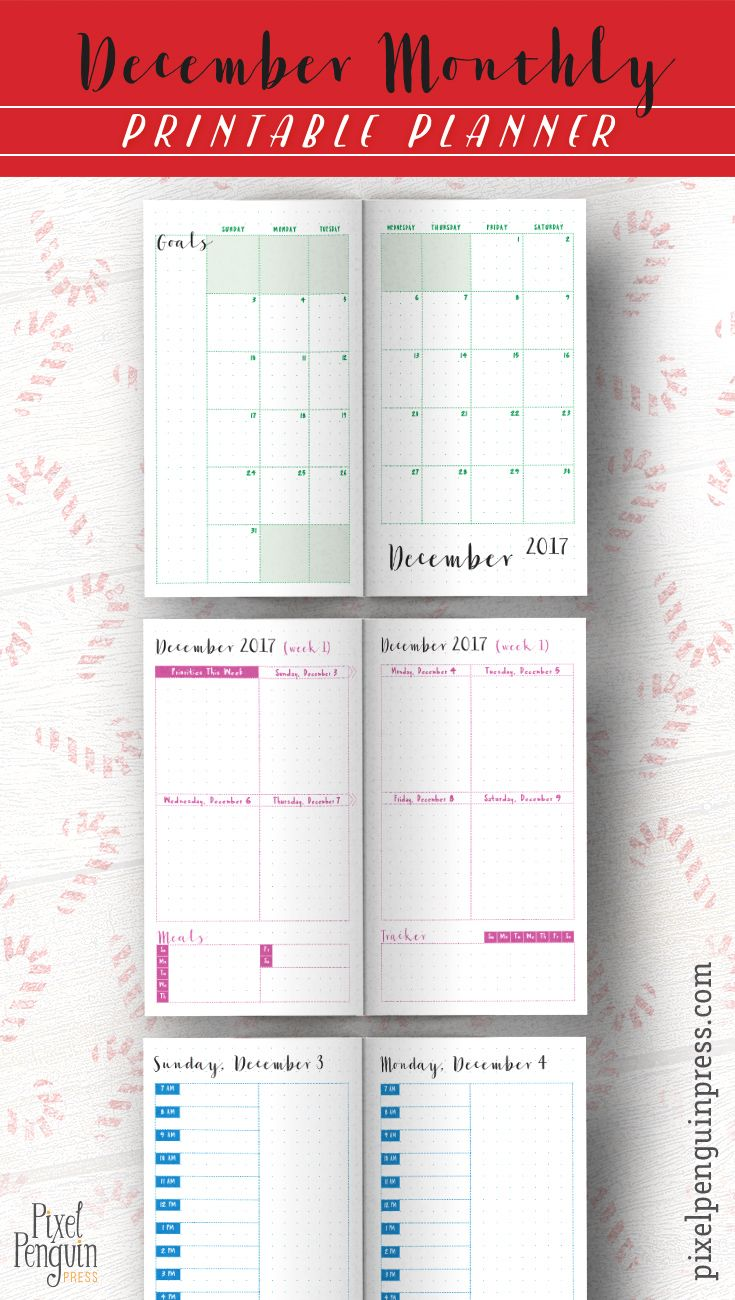 You're a busy girl and settling on a new layout is tough, I know! Rest assured these printable daily planner pages are tried and true and make great bullet journals. December is no exception. You can keep it simple or decorate to your heart's content with stickers (the weeklies are box layout style, yay!).