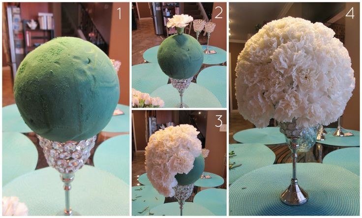A Tiffany & Co Bridal Shower: DIY Carnation Centerpieces