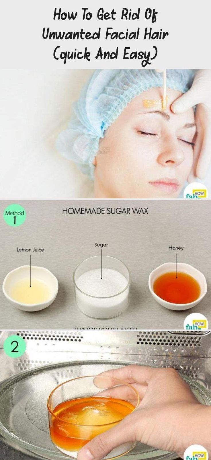How to get rid of unwanted facial hair quick and easy