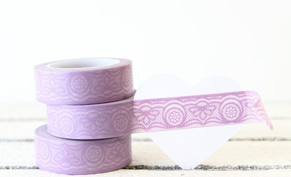 Washi Tape Purple Lace Washi Tape Planner by MailboxHappiness