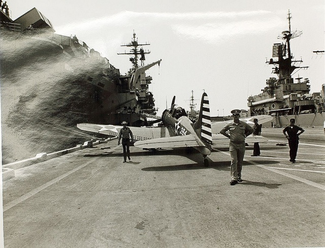 June 6, 1942: The Battle of Midway begins with a predawn torpedo strike by U. S. Navy PBY Catalinas against Japanese ships, which damages an oiler. Eventually, all four Japanese carriers are destroyed. This loss causes the Japanese to cancel the Midway operation and withdraw. It is widely considered to be the turning point of World War II in the Pacific. Pictured here: Douglas SBD-5 Dauntless, which inflicted damage on Japanese aircraft carriers