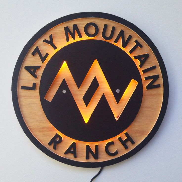 Ranch Sign I made with LED backlighting http://ift.tt/2cmhp21