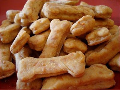Cheesy Bone Treats 4 cups of flour 2 cups of shredded cheddar cheese 2 tbsp-1/4 cup of oil 1 1/3 cups of water