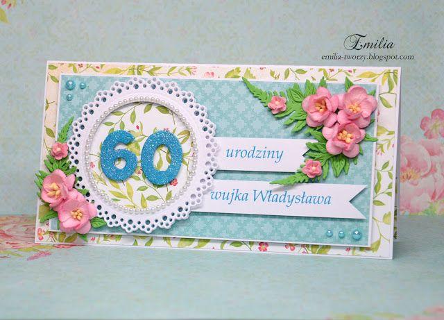 Kartka na 60 urodziny/Kartka urodzinowa/Birthday card