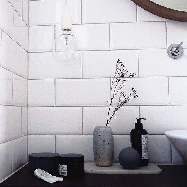 Dark and rainy days.. on repeat.  #autumn #bathroom #askogenghome