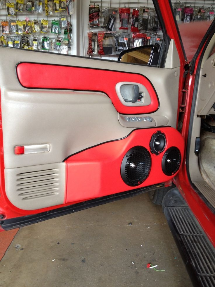 Custom chevy door panels Speaker Boxes / Consoles / Door