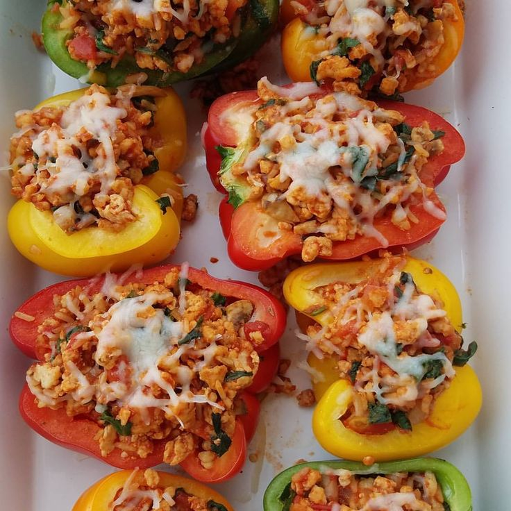 THESE were SO good tonight! Very SIMPLE too! Try them this week! Ingredients: 4 bell peppers 1 Tbsp avocado oil, or olive oil 1 yellow onion, diced 8 ounces fresh mushrooms, diced 1 pound ground turkey 1 tsp sea salt - or to taste 1/4 tsp ground pepper 1 tsp garlic powder 1/2 tsp smoked paprika...