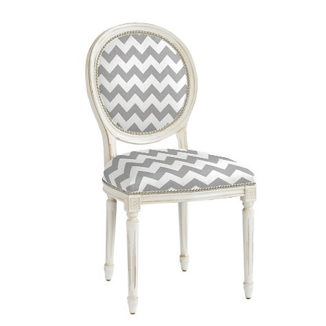 Louis Chair with zigzag fabric