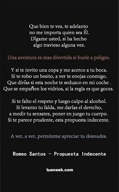 Propuesta indecente. Romeo Santos.