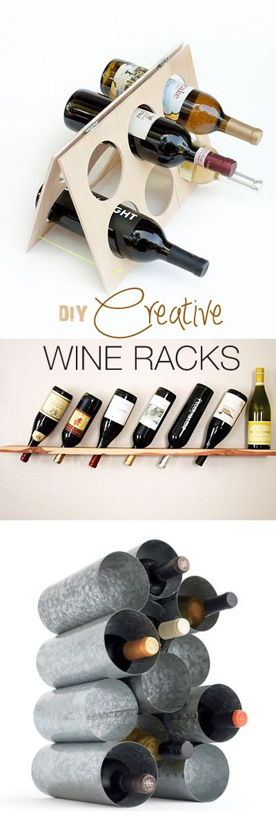 OMG, why did i never think of making my own wine rack? DIY Creative Wine Racks • Ideas & Tutorials!