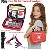 First Aid Kit Survival Kit, Monoki Emergency Survival Kit Medical Supplies Trauma Bag Safety First Aid Kit for Home, Office, School, Car, Boat, Travel, Camping, Hiking, Sports, Adventures: Kitchen & Dining Hurricane #prepare#preapredness#list#food#kit#hacks#kids #adults#power#outages#pets#ideas#families#apartment#condo#home#house#thoughts#tips#howto#diy#survival#urban#flood#medical#supplies#supply#simple#easy#saftey#safe#first#aid…