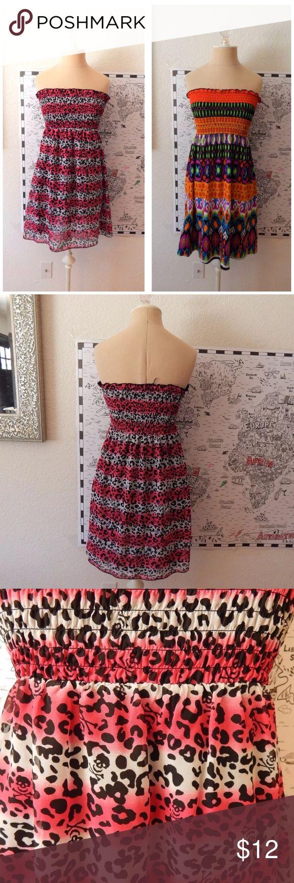 Set Two Strapless Swim Cover Up Dress Set Two Strapless Swim Cover Up Dress.                           Size Medium unbranded Swim Coverups
