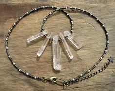 Collar de cristal de amatista joyas de piedra preciosa morada