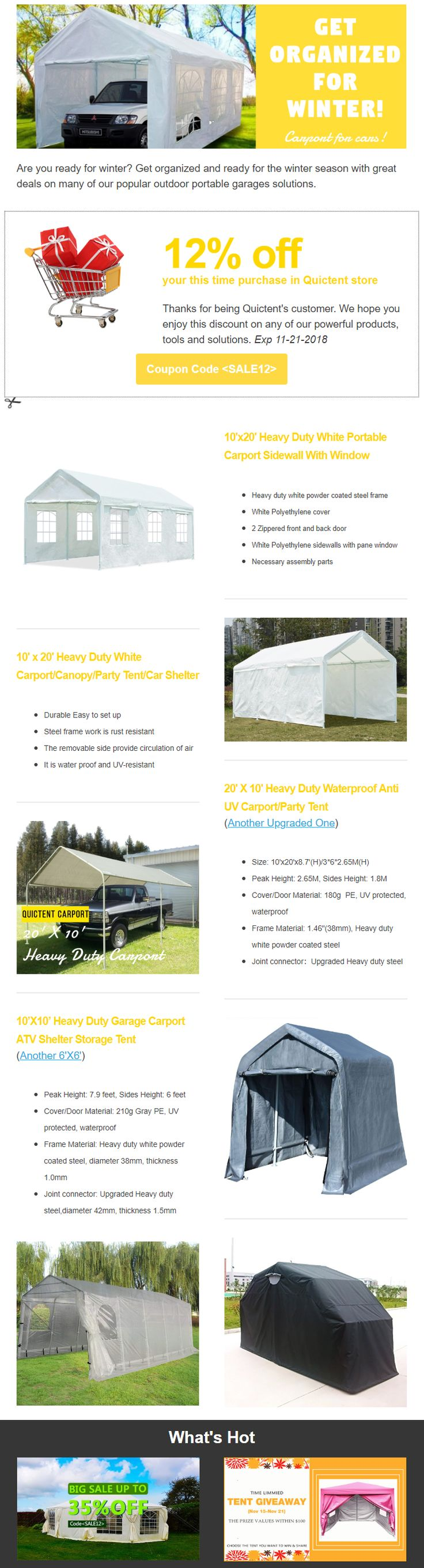 Pin by Quictent on 50+Portable Carport&Mobile Garage