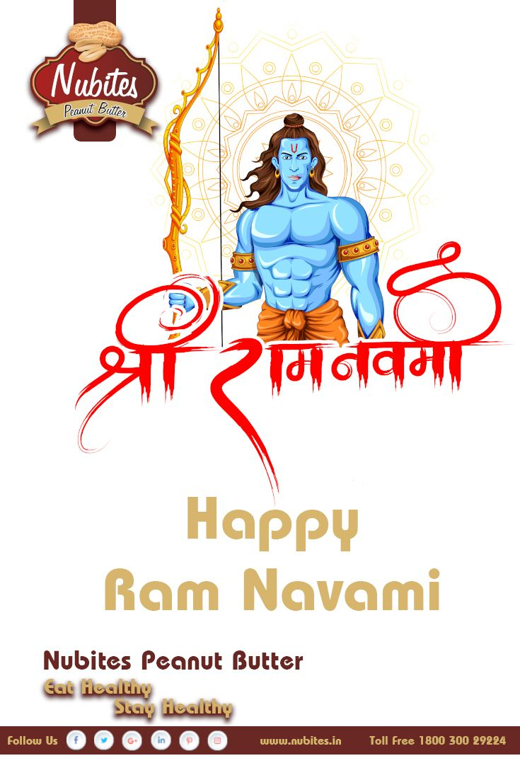 Happy Ram Navami.. Jai Shree Ram.. #happy #ram #navami #ramnavami #nubites #peanutbutter #birth #of #ram #eathealthy #stayhealthy #peanutbutter #livehealthy
