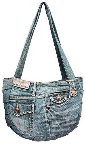 BDJ Upcycling Blue Denim Jean Hobo Shoulder Top Handle Handbag Model DMB068 Bijoux De Ja http://www.amazon.com/dp/B00VBRNKAS/ref=cm_sw_r_pi_dp_RHAfwb0EAJANY
