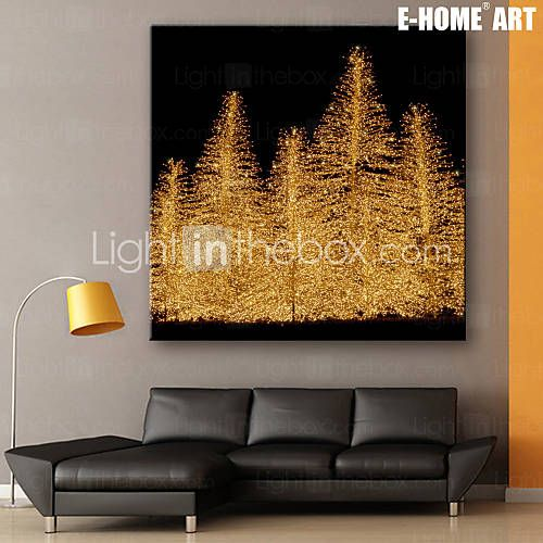 E HOMER Stretched LED Canvas Print Art Christmas Tree Series Flashing Optical Fiber One Pcs Living Room