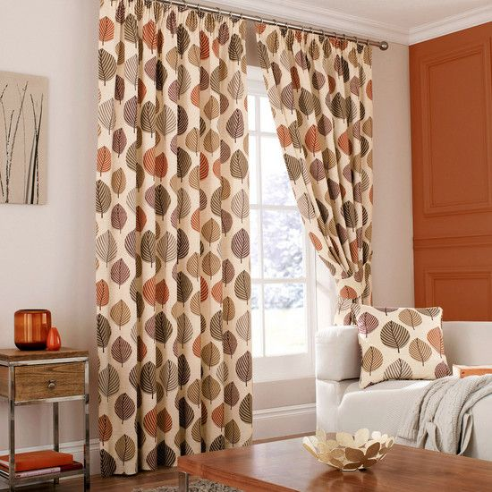 Terracotta Regan Eyelet Curtain Collection Dunelm