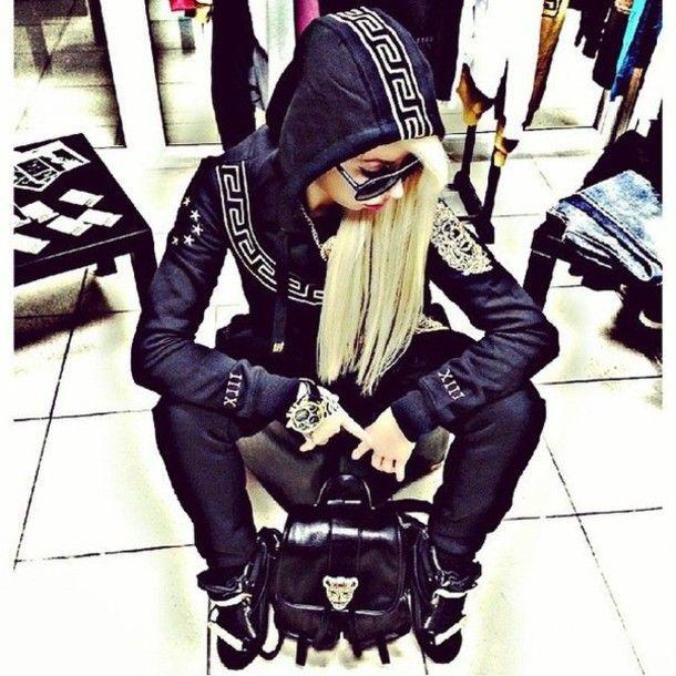 versace women hoodie | Fotos - Sportswear Outfit Hoodie Sweatsuit Outwear Mint…