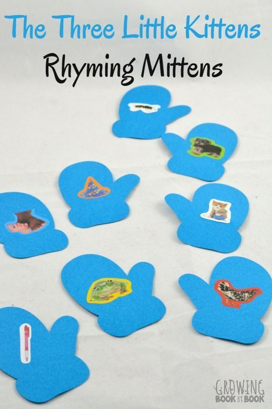 Practice rhyming with The Three Little Kittens and this rhyming mitten activity. A great way to build phonological awareness.