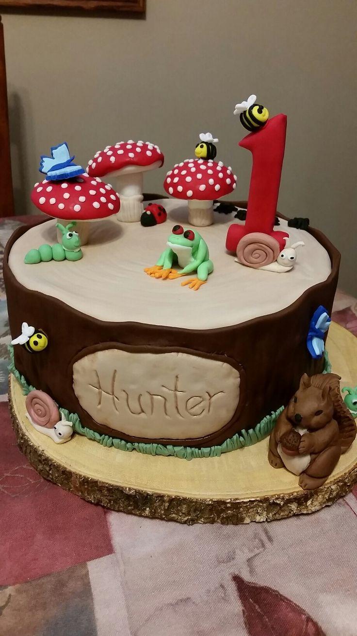 Hunter's 1st birthday 2017, log cake