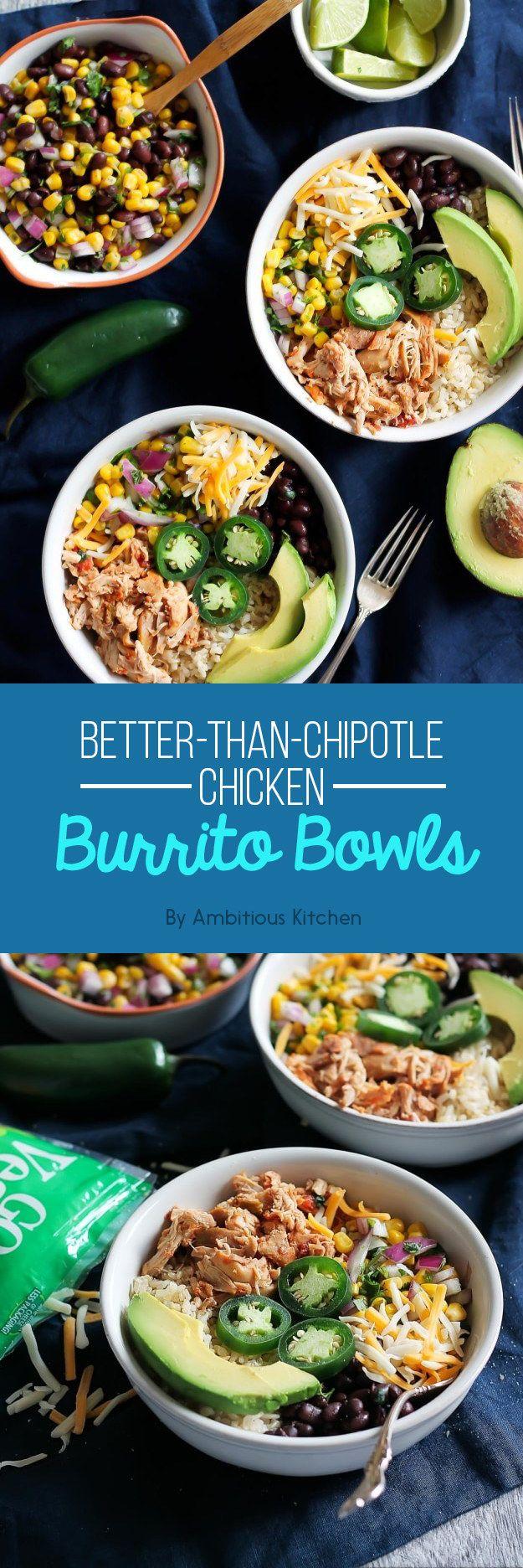 Better-Than-Chipotle Chicken Burrito Bowls