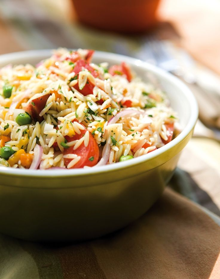 Make-Ahead Orzo Salad by williams-sonoma: A great summer side. #Salad #Orzo #Make_Ahead_Sides