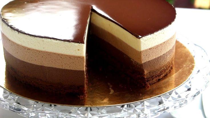 158 best gateaux chocolat images on pinterest chocolates chocolate mousse cake and chocolate. Black Bedroom Furniture Sets. Home Design Ideas