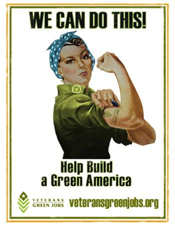 Rosie The Riveter On A Wind Turbine: Women And The Growing Green Economy