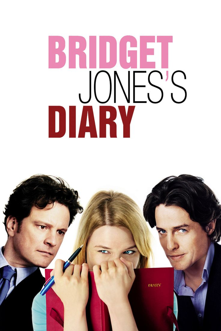 """Bridget Jones's Diary""(2001).Directed by Sharon Maguire.Starring:Renee Zellweger,Hugh Grant,Colin Firth.It's a British film, film adaptation of the same name book by Helen Fielding.Bridget Jones is unmarried 32-year-old woman, complex about weight loss.She wants to find true love. Recommended age-16+"