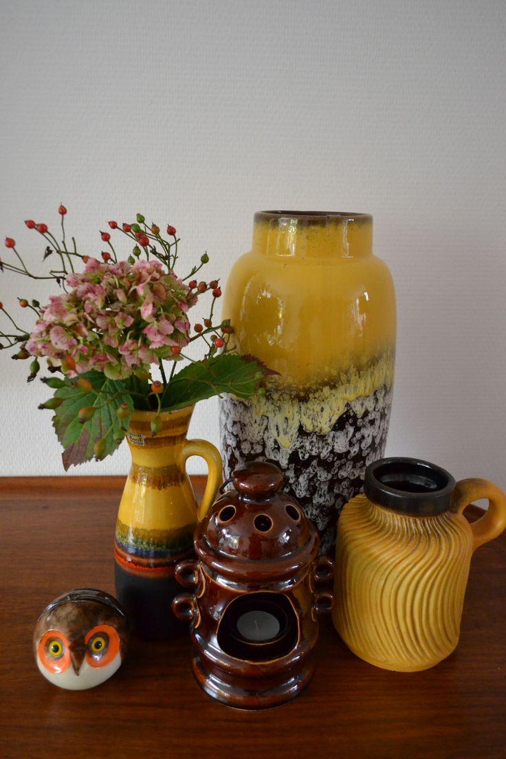 Vintage vazen van W. Germany. http://vaas-tastisch.marktplaza.nl/