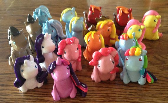 Miniature MLP My Little Pony Clay Figurines - Twilight, Rarity, Pinkie Pie, Applejack, Rainbow Dash, Fluttershy, Big Mac, Derpy, and more! on Etsy, $6.58 AUD