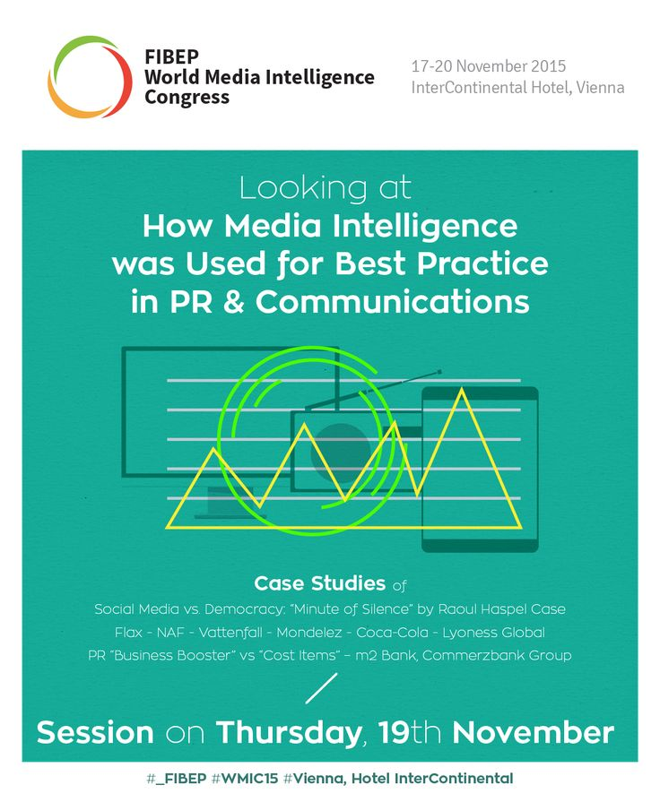 Looking at How Media Intelligence was Used for Best Practice in PR & Communications with Case Studies at FIBEP WMIC15 in Vienna on the 19th of November.