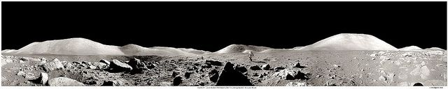In this recently compiled panorama of lunar photographs originally taken by astronaut Eugene Cernan, the desolation of the barren Moon is apparent, with lunar rocks in the foreground, lunar mountains in the background, some small craters, a lunar rover, and astronaut Harrison Schmidt on his way back to the rover. A few days after this image was taken, humanity left the Moon and has yet to return.