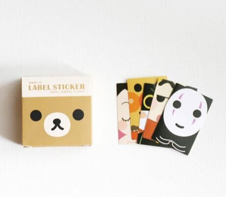 Funny cartoon face fashion mini sticky paper stickers 3.8*3.8cm 40 sheets a box DIY decoration supplies