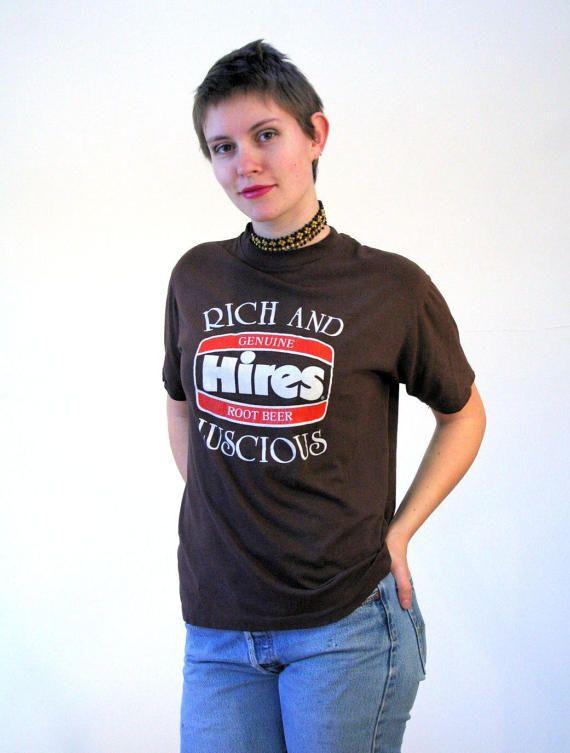 70s Hires Root Beer T-shirt, Pop Culture T-shirt, Soda T-shirt, Vintage Hires T-shirt, Vintage Root Beer T-shirt, L