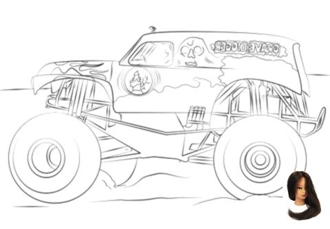 Grave Digger Monster Truck Coloring Pages From Monster Truck