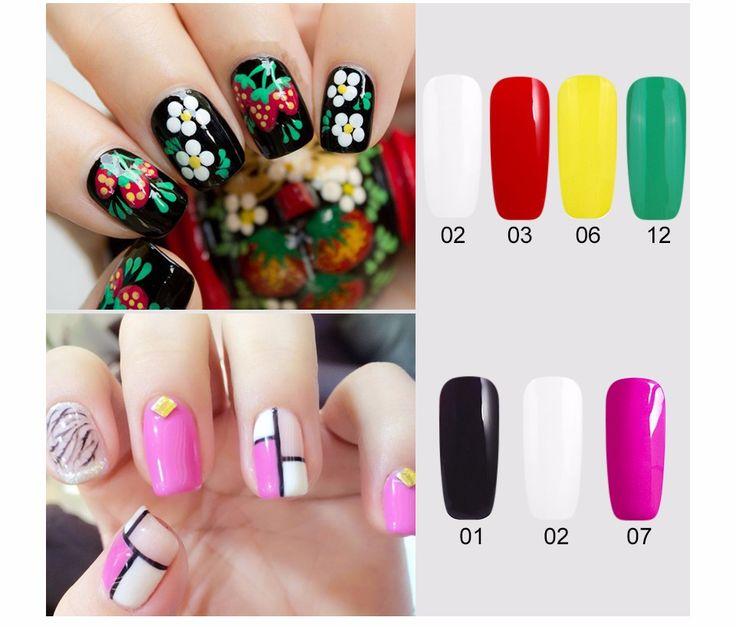 1pcs Nail Art Paint Draw Painting Gel 12 Color UV Gel DIY Gel Nail Polish UV Nail Art DIY Decoration for Nail Manicure|5819a345-f3a8-4c08-a61f-c7ed490dff30|Nail Polish