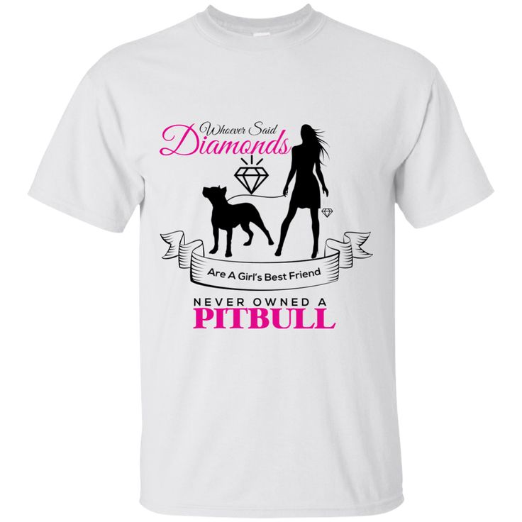 I CHOOSE PIT BULL OVER DIAMONDS T-SHIRT WHITE