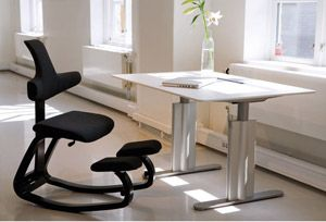 """When you correctly sit in a kneeling chair you then have achieved """"active sitting"""". Core muscles are engaged and you will find posture can improve overnight. You will find that your joints are less stiff, and overall you will have better focus and higher concentration levels. http://www.fineback.co.uk/contemporary/kneeling-chairs.html"""