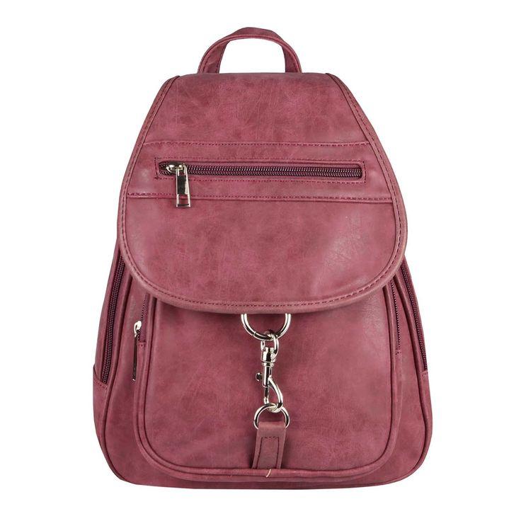 OBC Damen Rucksack Cityrucksack Schultertasche Stadtrucksack BackPack Handtasche Organizer Daypack Tablet bis ca. 8 Zoll Bordo – Shoppondo