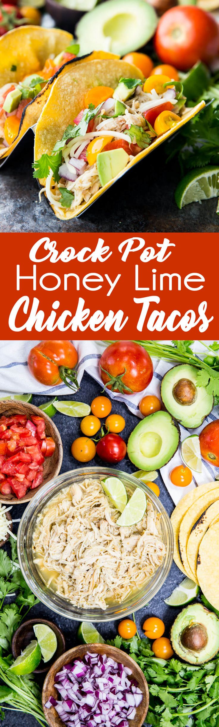These easy to make slow cooker honey lime chicken tacos are the perfect tailgating food. They are low cost, they feed a crowd, and taste amazing! #ad #switchandsave#crockpot #crockpotrecipies #tacos #tacotuesday #honeylime #chickentacos